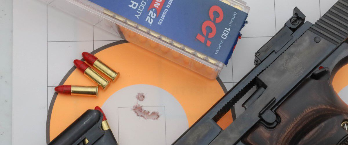 target, pistol and cci ammunition