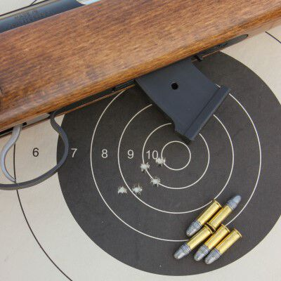 a shot target with ammo