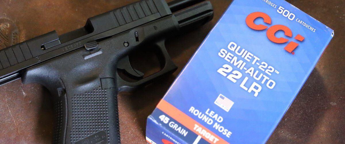 handgun and CCI Semi-Auto 22 LR