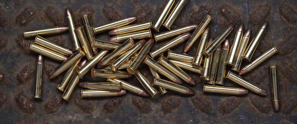 22 WMR ammo laying on a table