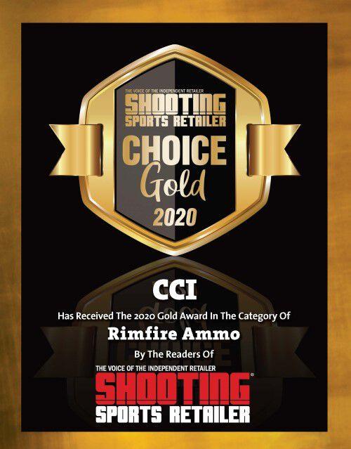 Shooting Sports Retailer Choice Gold 2020 Award